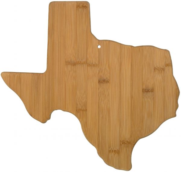 Totally Bamboo Texas State Shaped Serving And Cutting Board