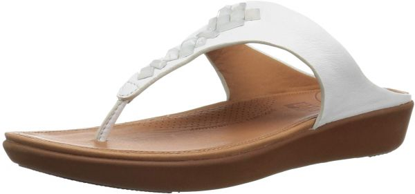 8eca7c3c0827 FitFlop Women s Banda Leather Toe-Thong Crystal Slide Sandal
