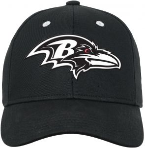 cd471df66 NFL Youth Boys Black and White Structured Adjustable Hat-Black-1 Size
