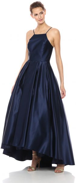 de1748265b7 Betsy   Adam Women s Halter Ballgown Dress