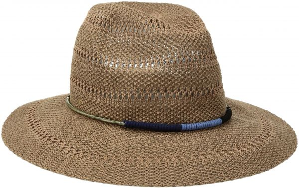 San Diego Hat Company Women s Knitted Panama Fedora Hat with Gold Cord  Trim f64c4e5ac13c