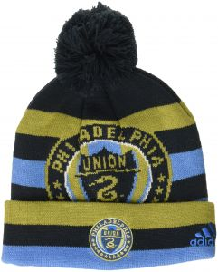 MLS Philadelphia Union R S8FDS Youth Boys Cuffed Knit Hat With Pom 263bed772602