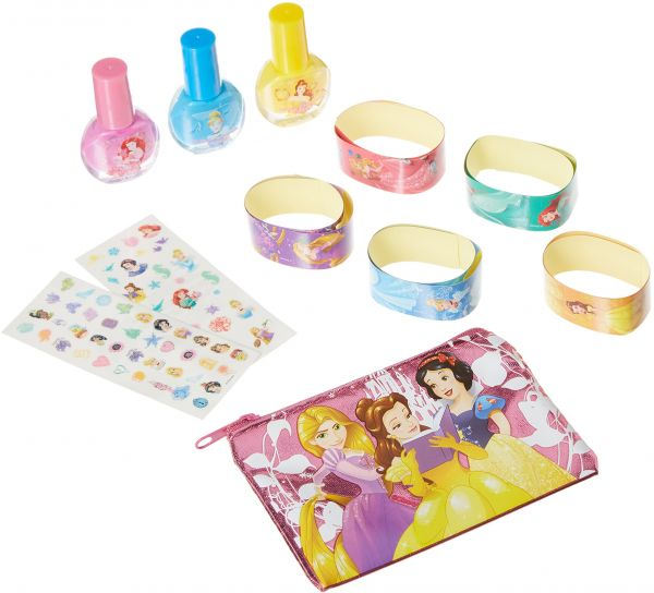 Disney Princess Nail Polish, Cosmetic Bag & Stickers