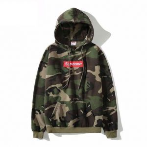 527a236b45a8 Supreme Round Neck Hoodie Camouflage