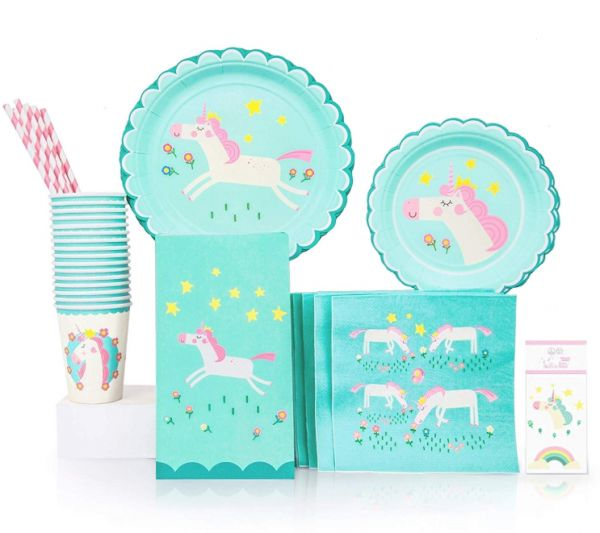 Unicorn Theme Birthday Party Set Supplies Pack