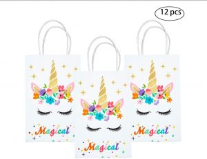 Unicorn Goodie Bags Gold Glitter Paper Gift Bags Treat Bag Birthday Supplies for Girls Favor Bags for Kids Set of 12 comfortable for your gGuest to Carry  sc 1 st  Souq.com & Buy adult 50th birthday gold birthday party favor boxes set of 12 ...