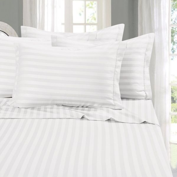 Elegant Comfort Best Softest Coziest Stripe Sheets Ever 1500 Thread Count Egyptian Quality Luxury Silky Soft Wrinkle Fade Resistant 4 Piece Bed Sheet