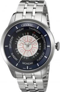 cf3fbb1b8aa Gevril Columbus Circle Mens Swiss Automatic Silver Stainless Steel Bracelet  Watch