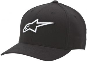 Alpinestars Men s Curved Bill Structured Crown Flex Back 3D Embroidered  Logo Flexfit Hat cb3e8382e1f