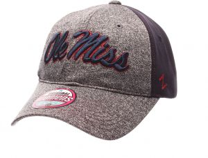 finest selection 4bc11 8fbd4 Zephyr NCAA Mississippi Old Miss Rebels Women s Harmony Performance Hat,  Grey Navy, Adjustable