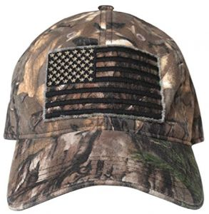 Buck Wear Men s Smooth Operator Hat with Black Out American Flag fa1e085f9eae