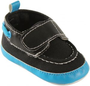 Luvable Friends Bright Boys Crib Boat Shoes (Infant), Black Aqua, 6-12  Months M US Infant dd6e9412ee9f