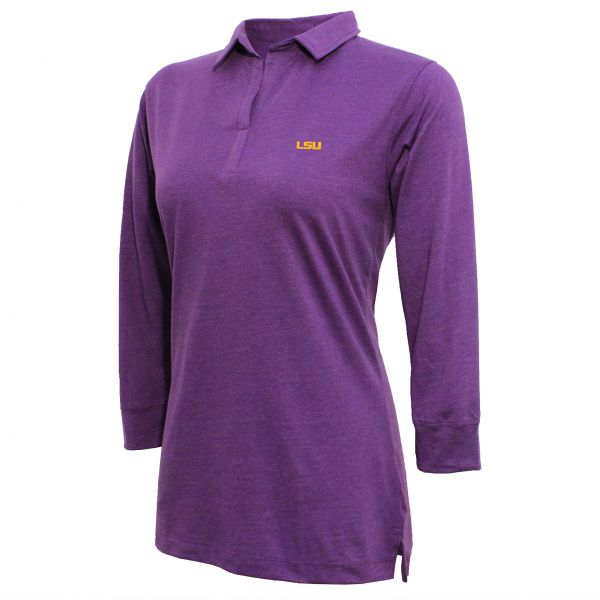 4a655a2cf2 NCAA LSU Tigers Women s Campus Specialties 3 4 Sleeve Jersey Polo ...