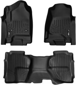 Polycotton Charcoal Covercraft SS3439PCCH SeatSaver Front Row Custom Fit Seat Cover for Select Chevrolet Silverado 1500//GMC Sierra 1500 Models