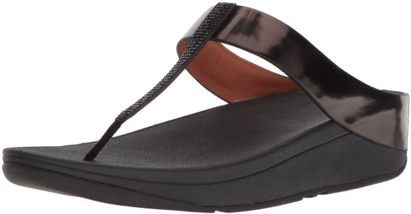 d4a05defd FitFlop Women s Fino Crystal Toe-Thong Sandal