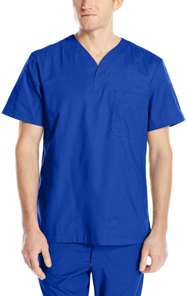 16ab18af48c KOI Men's Jason Henley-Neck Scrub Top with 4 Pockets and Pen Slot, Galaxy,  Small | Souq - UAE