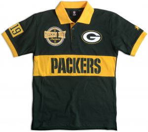 f688d0344dc FOCO Green Bay Packers Cotton Poly Wordmark Rugby Short Sleeve Polo Shirt  Medium