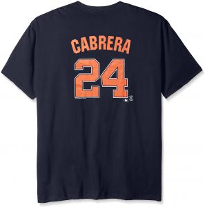 5d93f4694 MLB Detroit Tigers Cabrera  24 Men s Short Sleeved Two Sided High Density  Name Number Tee