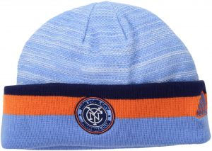 New York City FC Knitted Beanie Mens Hat Fan Blue