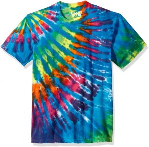 908ffb627d0 Liquid Blue Unisex-Adults Rainbow Blue Streak Tie Dye Short Sleeve T-Shirt