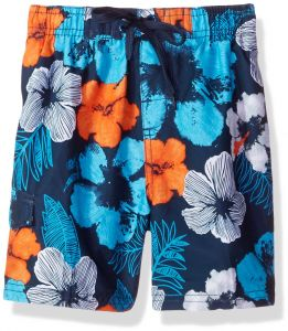 fc98b2aaa4 Kanu Surf Little Boys' Hangout Floral Quick Dry Beach Board Shorts Swim  Trunk, Navy/Orange, Small (4)