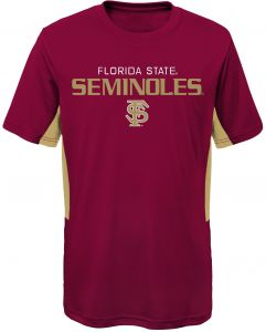 918a639d57e1 NCAA Florida State Seminoles Youth Boys Mainframe: Short Sleeve Performance  Top, Burgundy, Youth X-Large(18)
