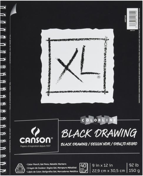 Canson XL Watercolor Textured Paper Pad Paint Pencil Ink Charcoal Pastel Acrylic