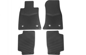 General Motors GM Accessories 32026238 Front and Rear All-Weather Floor Mats in Black with Deep Rib and Tri-Shield Logo