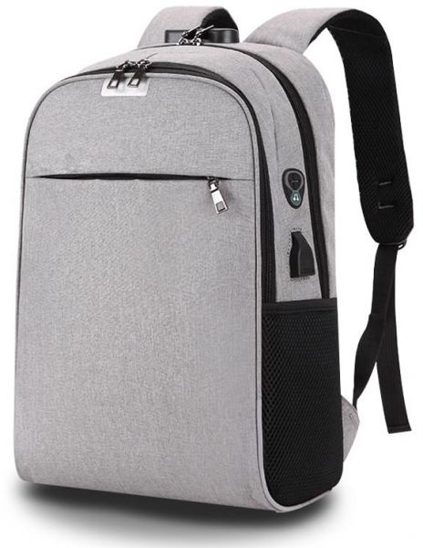 b6f5126d71 USB Charging Laptop Backpack 15.6 inch Anti Theft Women Men School Bags For  Teenage Girls College Travel Backpack (Grey)