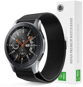 4d467ea61ce Samsung Gear S3 2018 Galaxy Watch 46mm Mifan Milanese Loop Band Strap  Replacement Premium Mesh Stainless Steel Black Anti Sweat Cooling with  Magnetic Clasp ...