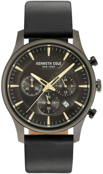 949c5d12dff Kenneth Cole Men s Black Dial Genuine Leather Band Watch - KC15106004. by Kenneth  Cole
