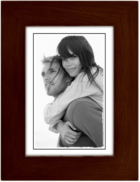 Malden International Designs Linear Classic Wood Picture Frame 3x5