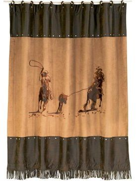 HiEnd Accents Team Roping Western Shower Curtain