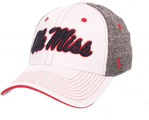 ed3f2c4ab0dc9 ... cheap zephyr ncaa mississippi old miss rebels adult men equinox hat  medium large white heather gray