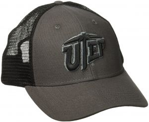 88daa5a03d417 Ouray Sportswear NCAA Texas El Paso Miners Industrial Canvas Mesh Cap,  Adjustable Size, Grey/Black/Grey