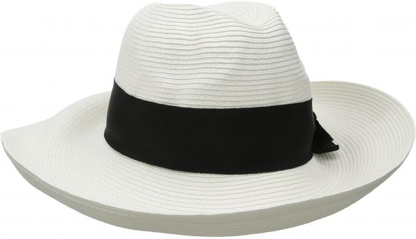 Physician Endorsed Women s Adriana Toyo Straw Fedora Packable Sun ... c6403047357b