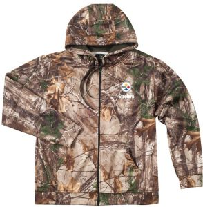 3f59a7e62a6d8 NFL Pittsburgh Steelers Adult Champion Realtree Xtra Polyester Tech Fleece  Full Zip Hoodie