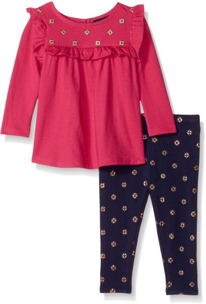 8860a4a08 Nautica Baby Girls Two Piece Legging Sets