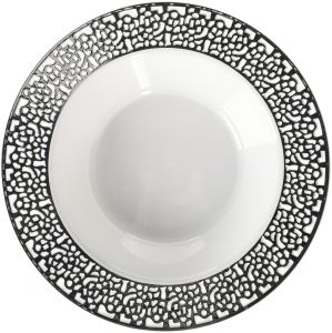 dd068a7972254 Amscan Reusable Bowls White with Silver Lace Border Premium Party  Tableware