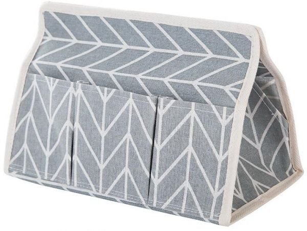 Tissue Box 6 Pocket Linen Fabric Tissue Case Seat Type Car Pumping