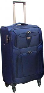 d115d0743132 HighFlyer 1442 1 pc 24 Inch Trolley Hard Luggage Bag Set - Blue
