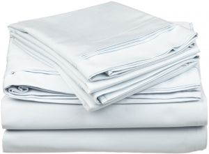 100 Egyptian Cotton 650 Thread Count Olympic Queen 4 Piece Sheet