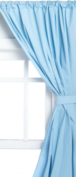 Carnation Home Fashions Vinyl Bathroom Window Curtain, Light Blue. by Carnation Home Fashions, Curtains & Accessories - 87 ratings