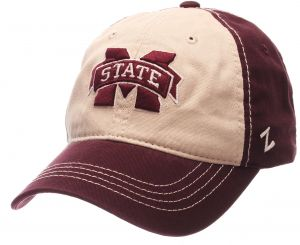 e61ff40ed6e597 NCAA Mississippi State Bulldogs Men's Sigma Relaxed Cap, Stone/Maroon,  Adjustable
