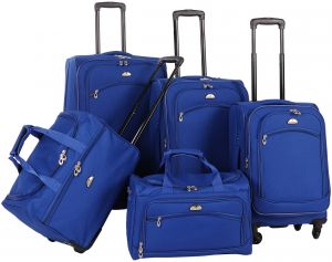 ec43937cd American Flyer Luggage South West Collection 5 Piece Spinner Set, Cobalt  Blue, One Size