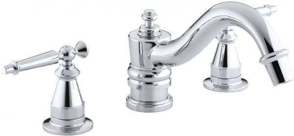 by Kohler Bathroom Accessories - Be the first to rate this product  sc 1 th 153 & KOHLER K-T125-4-CP Antique Deck-Mount High-Flow Bath Faucet Trim ...