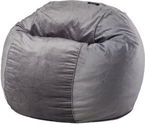 Posh Steel Grey Velvet Medium Bean Bag Chair Souq Uae