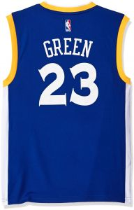 dae017a03 adidas NBA Men s Golden State Warriors Klay Thompson Replica Player Stretch  Jersey