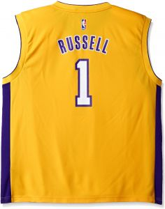 promo code d32c6 4c6f1 NBA Los Angeles Lakers D Angelo Russell  1 Men s Replica Home Jersey,  XX-Large, Yellow