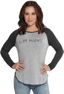 Touch by Alyssa Milano NHL Los Angeles Kings Adult Women Touch Line Drive  Top 027367277